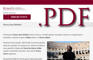 Roma gezi rehberi PDF