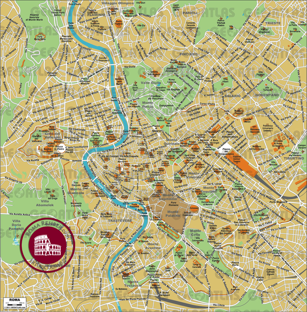 Roma haritası turistik