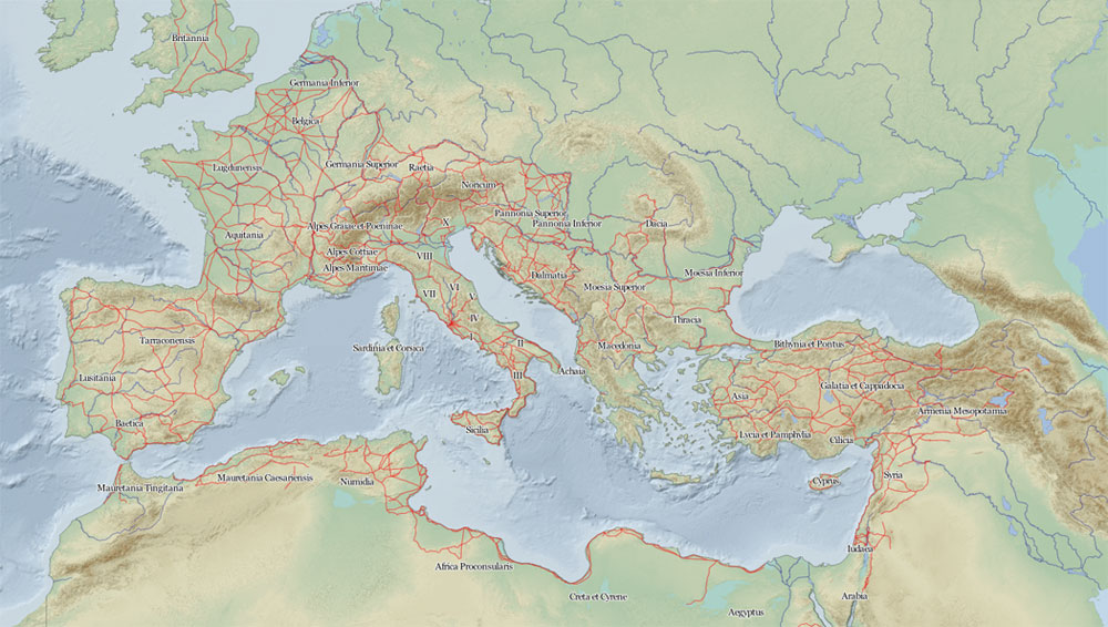 Roma İmparatorluğu yolları